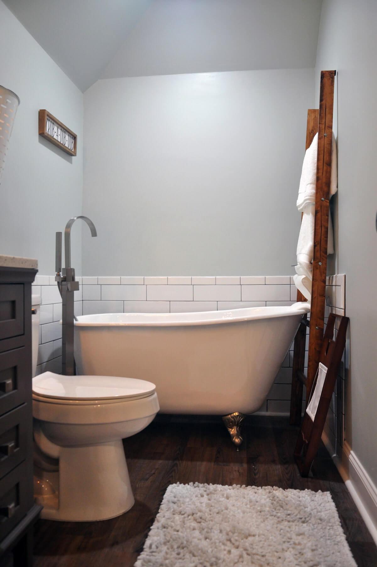Freestanding tub bathroom remodel