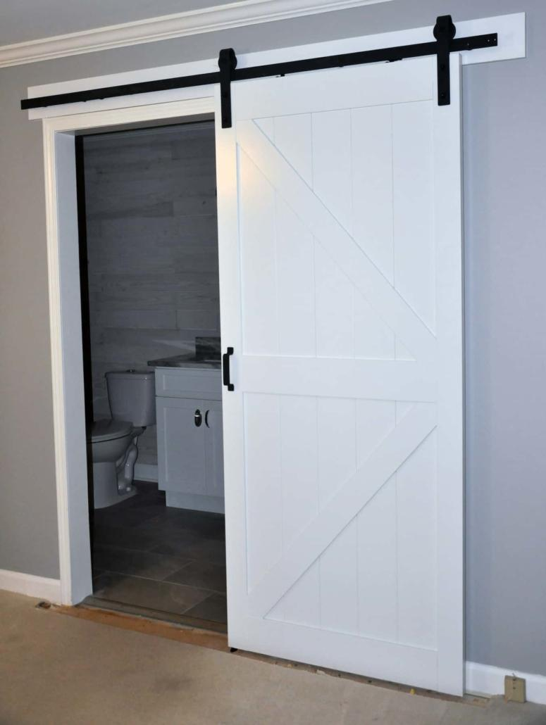 Barn Door Bathroom - Winston-Salem - Kitchen and Bath ...