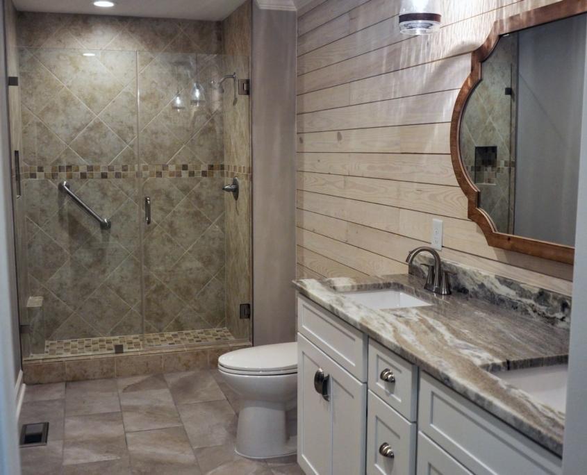 Full Bathroom Remodel winston salem nc shiplap