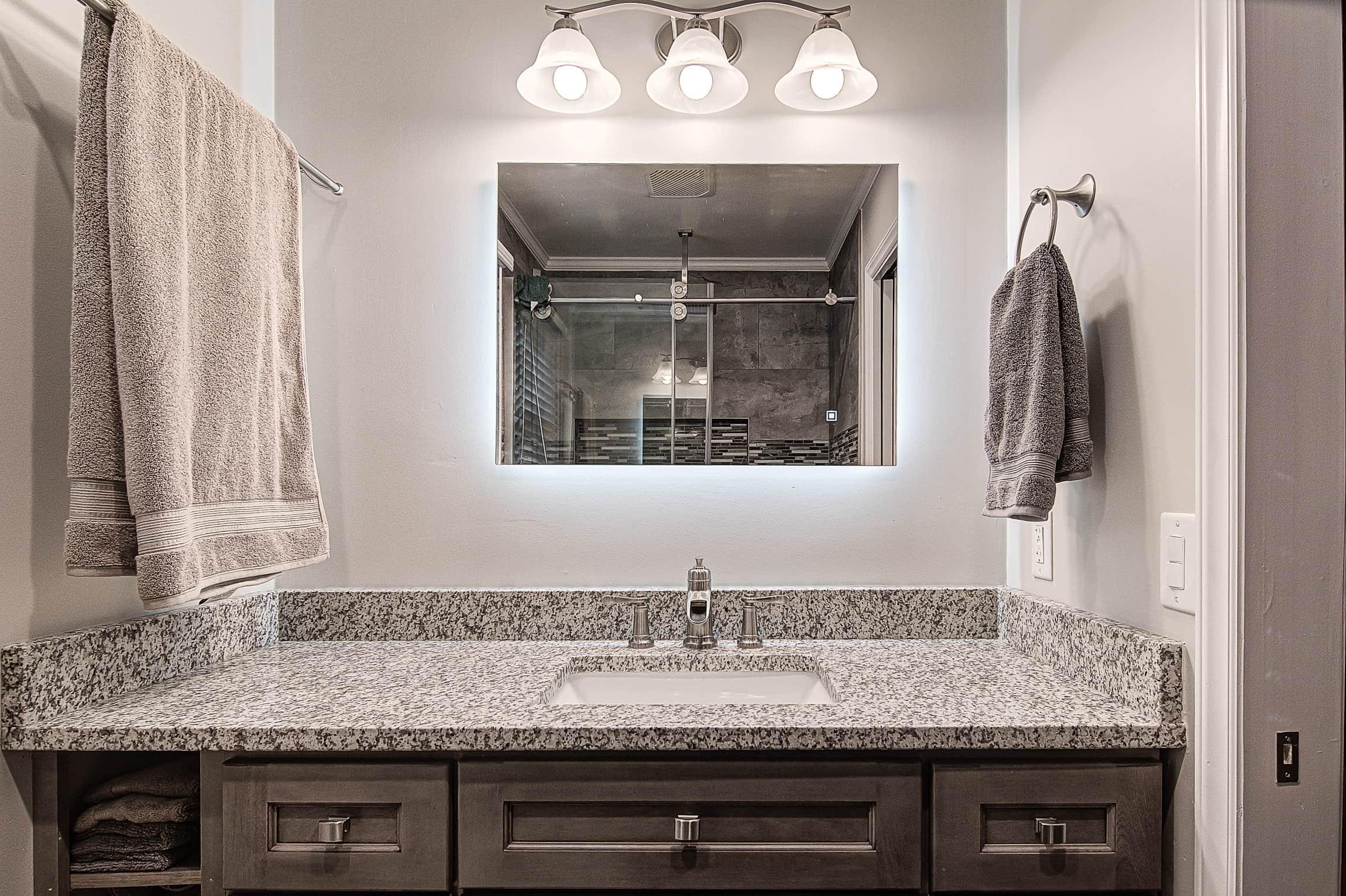 Remodeled Bathroom Vanity Mirror Winston Salem NC