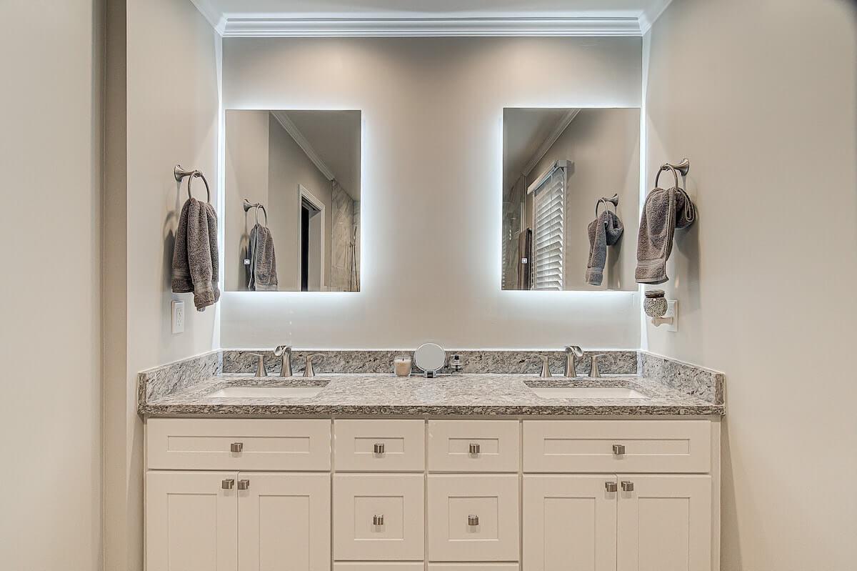 backlit bathroom mirror vanity winston salem nc