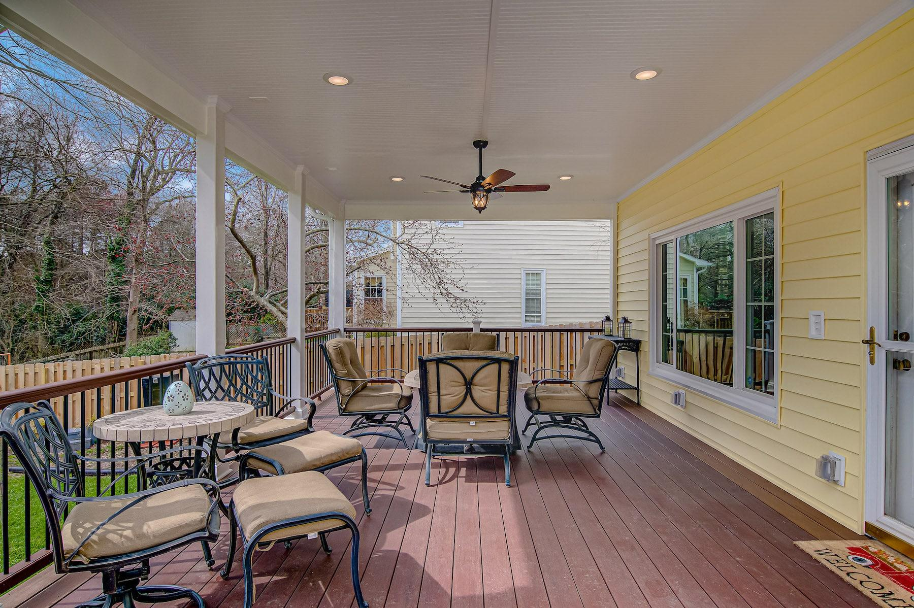 covered deck remodel with fan high point nc