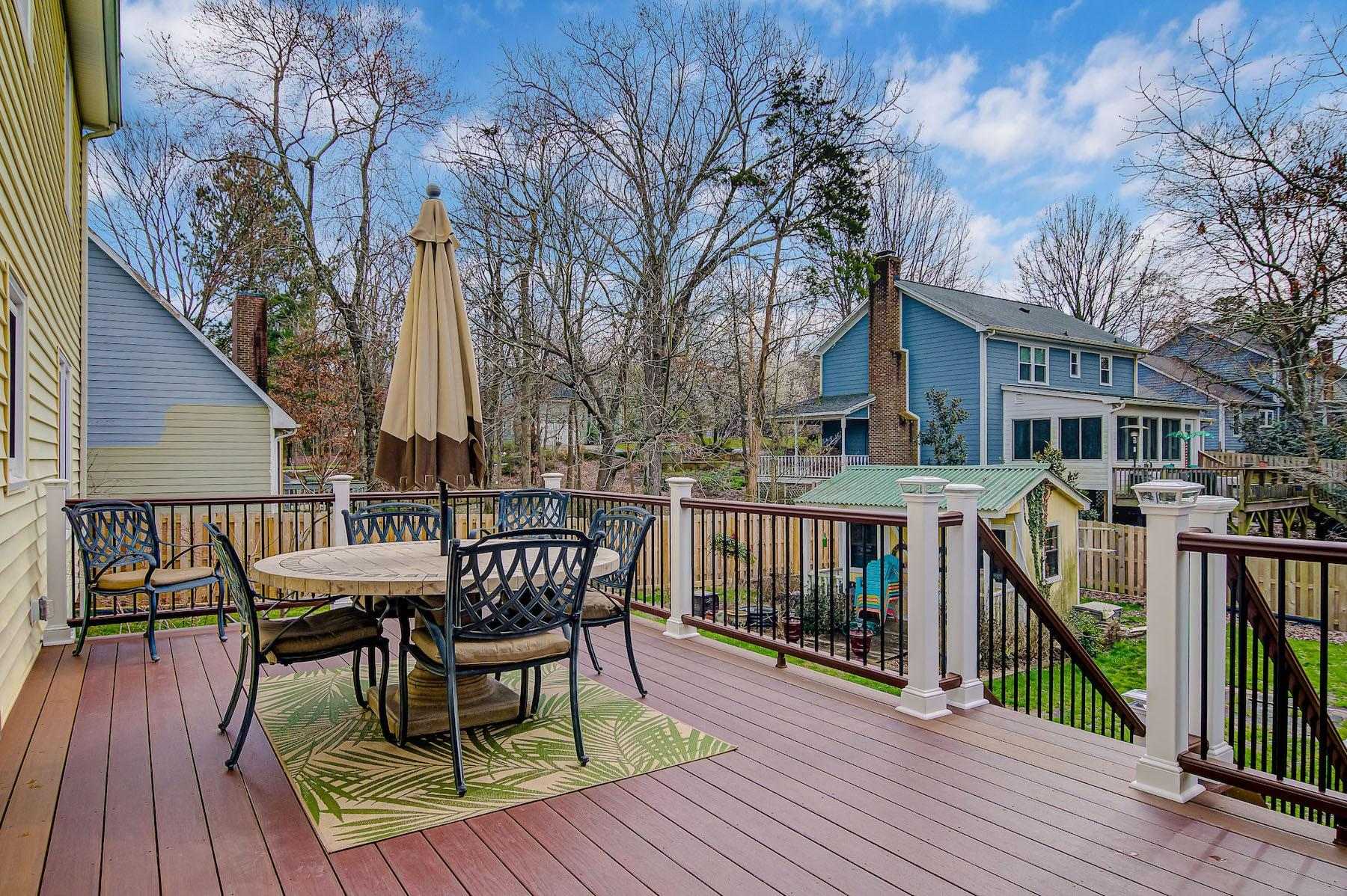 new deck with railing and stairs high point nc